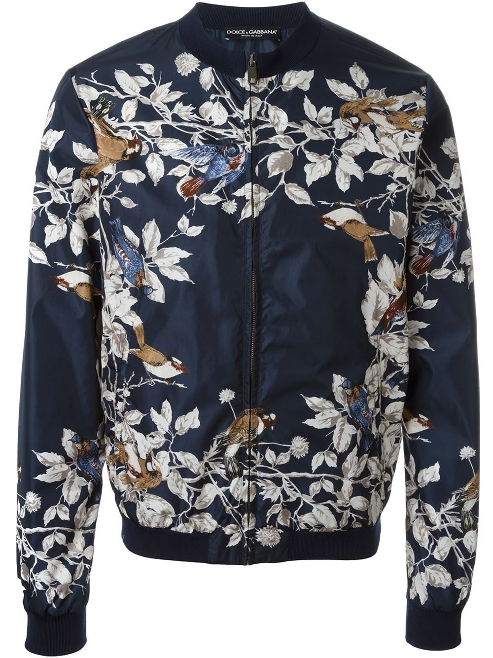 26987bd4216 Dolce & Gabbana bird print bomber jacket | Men's Fashion | Printed ...