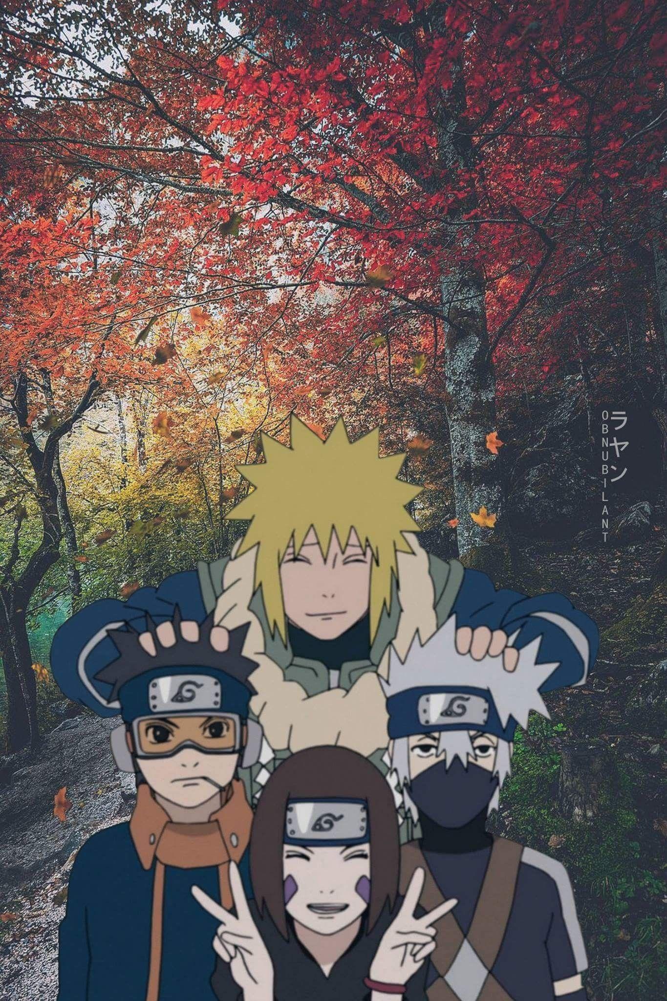 Minato Obito Rin And Kakashi Personnages Naruto Manga Naruto Kakashi Naruto
