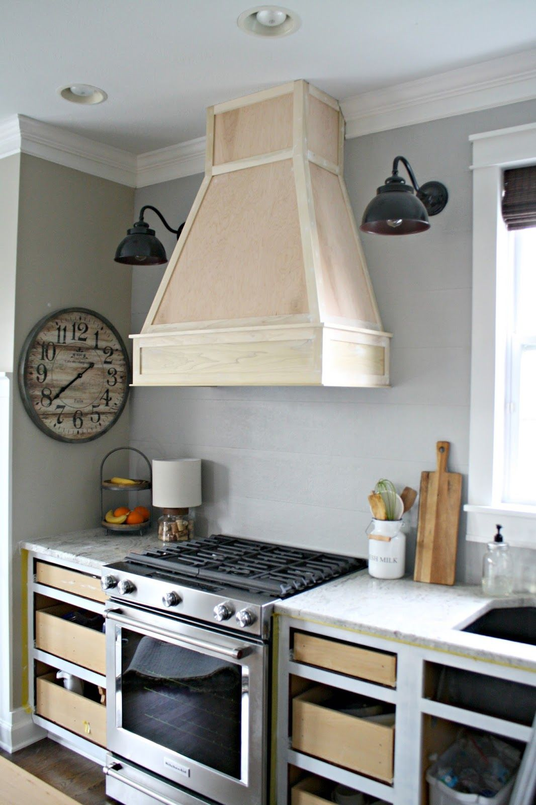 Kitchen Vent A Diy Ish Wood Vent Hood Kitchen Kitchen Vent Kitchen Hoods