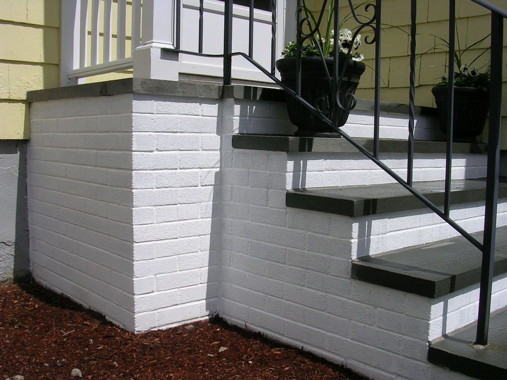 Steps porch stairs stairs paint exterior wood stairs painted exterior - To Prvent Slipping Down Painted Steps You Can Use Sand In The Paint Or Go