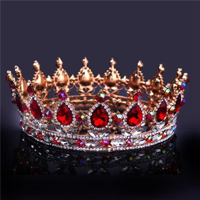 2019 Bridal Champagne Pageant Crowns Elegant Western Crystals Shiny Cheap Jewelry Wedding Hair Accessories Tiara Noiva Rhinestones Baroque Tiaras From Dhdrhayz622722, $25.09 | DHgate.Com #crowntiara