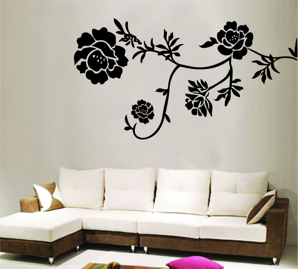 Wall Sticker | Home removable recycling wall sticker decals black ...