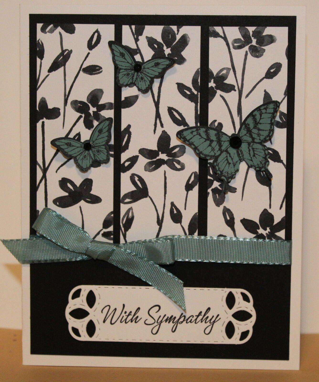 sympathy greeting card kit x 4  handmade stampin up