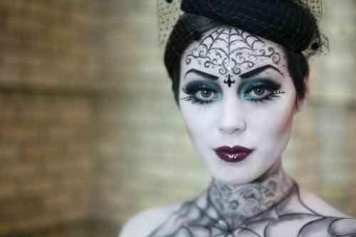 Propositions originales de maquillage Halloween simple - cool halloween ideas