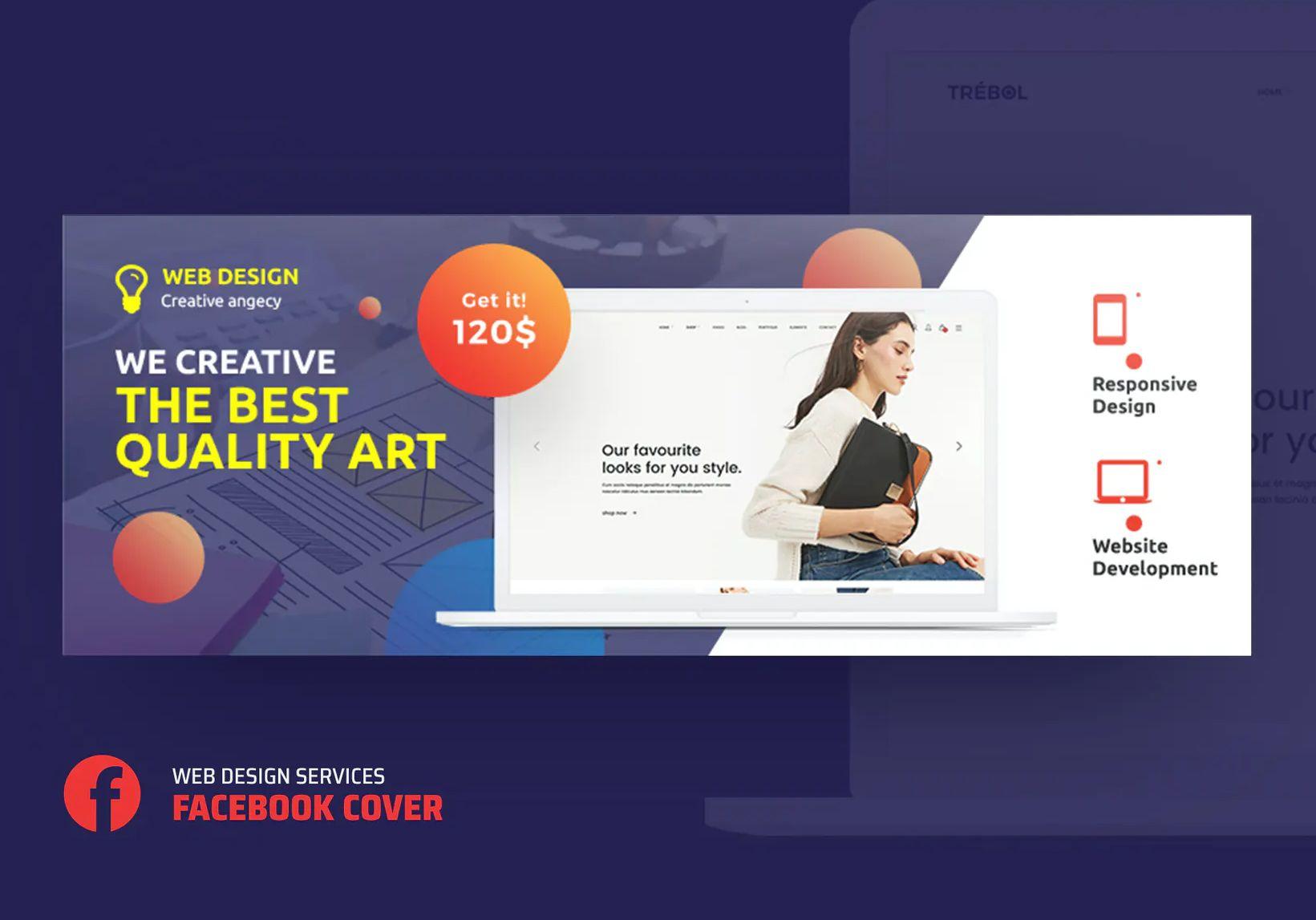 Web Design Services Facebook Cover Template Psd In 2020 Web Design Services Facebook Cover Template Web Design
