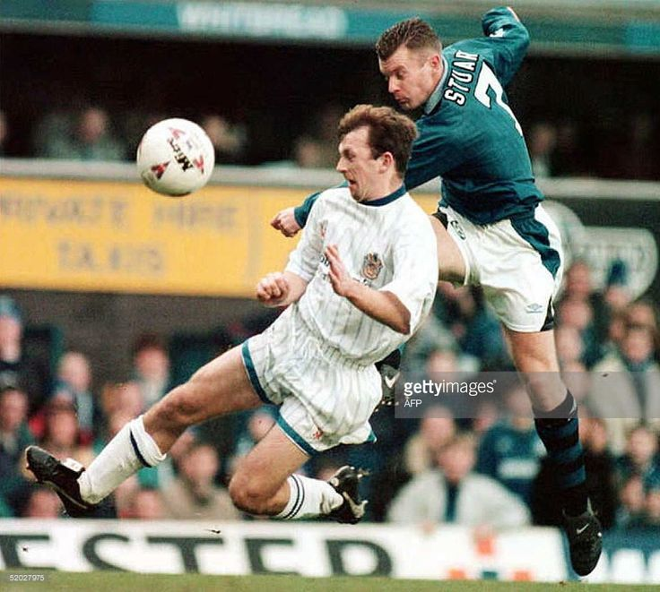 7 January 1996 Graeme Stuart scores in the FA Cup during a 2-2 draw with Stockport
