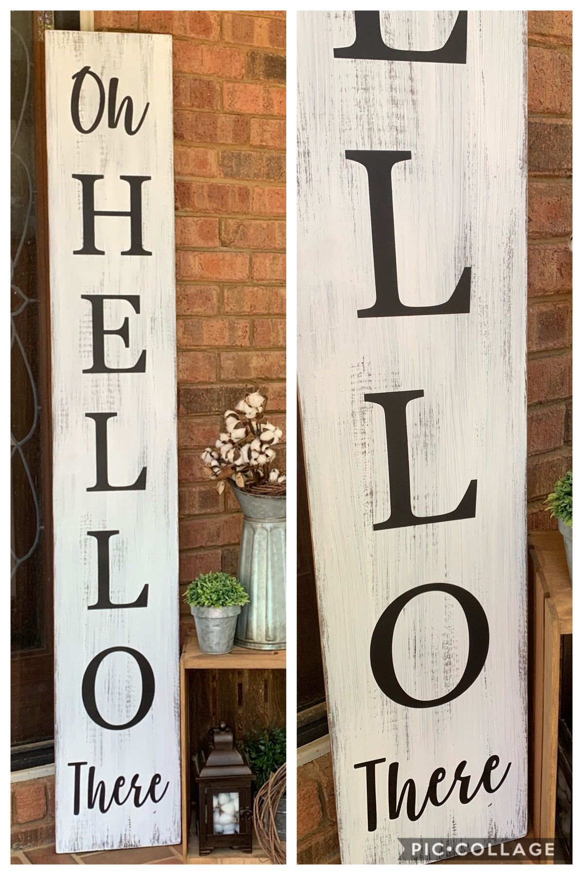 Excited To Share This Item From My Etsy Shop 6 Oh Hello There Porch Sign Welcome Porch Sign Vertical Porch Sign Porch Welcome Sign Porch Signs Porch Wood