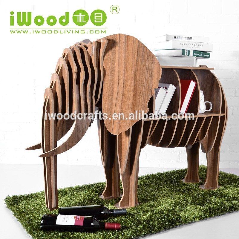 iWood elephant shape art deco furniture Bücherregal diy