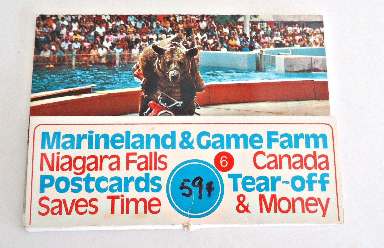 Souvenir Folded Postcard Marine land & Game Farm Canada