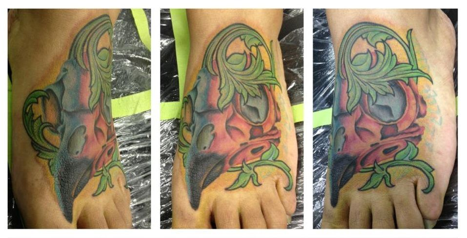 Foot tatto by mark arnold rampage tattoo 1425 westheimer