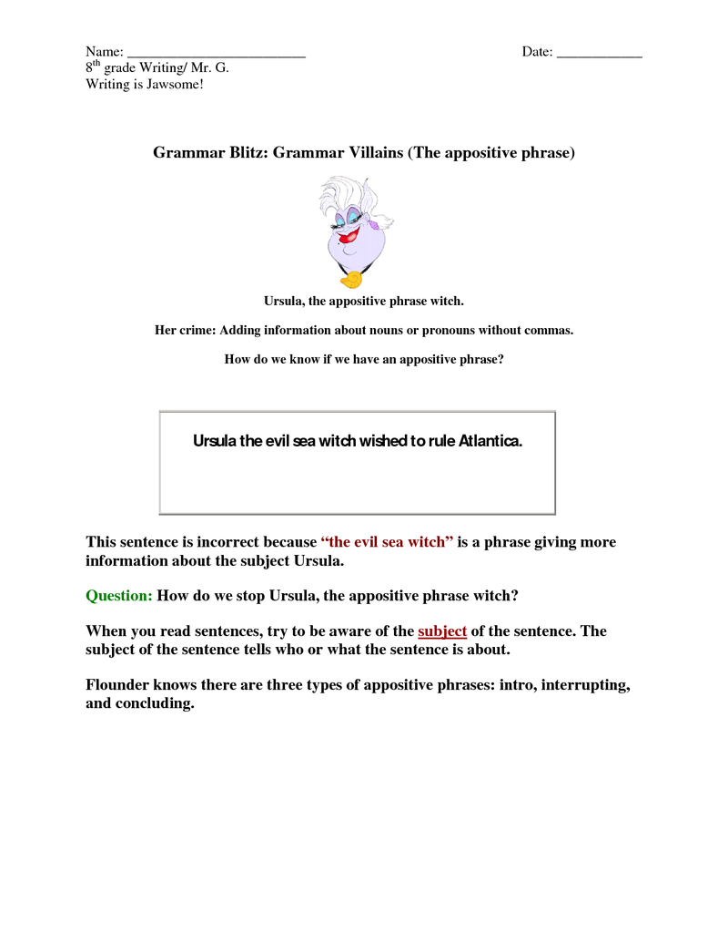 17 Best images about Appositives on Pinterest  Activities  printable worksheets, free worksheets, alphabet worksheets, worksheets, and worksheets for teachers Worksheets On Appositives 1035 x 800