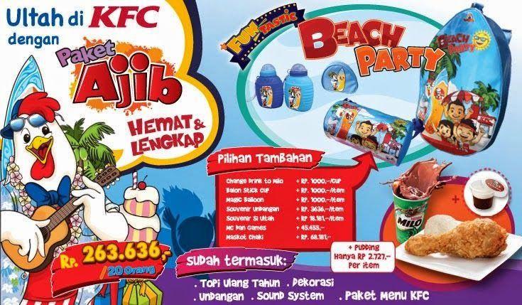 Harga Paket Kfc Birthday Ajib Paket Ulang Tahun Kfc Kfc Ulang