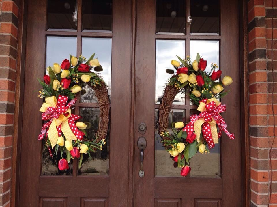 Southern And Sassy Door Decor And More On Facebook Spring Wreath
