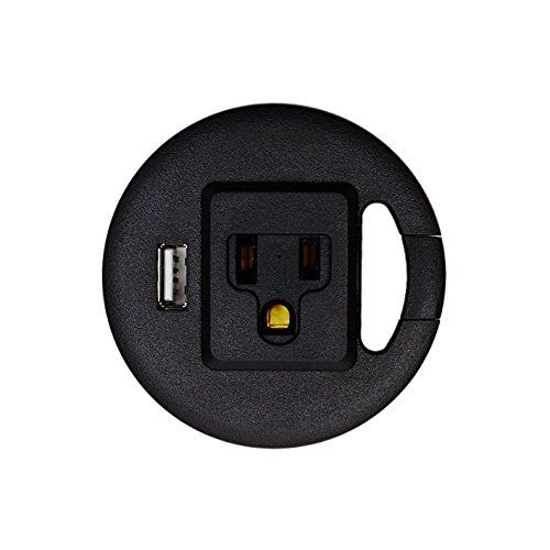 Amazon Com Standdesk Grommet Easyplug Fits 60mm 2 36 Diameter 1 Ac Adapter Outlet 1 Usb Power Outlet Cabl Cable Management Diy Computer Desk Grommets