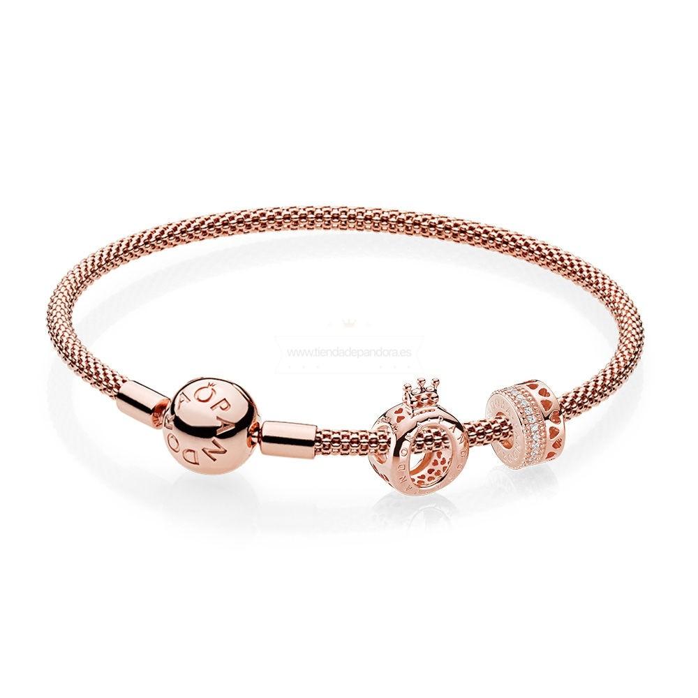Venta Pandora Rose Corona Pulseras Set | Bracelet pandora, Bijoux ...