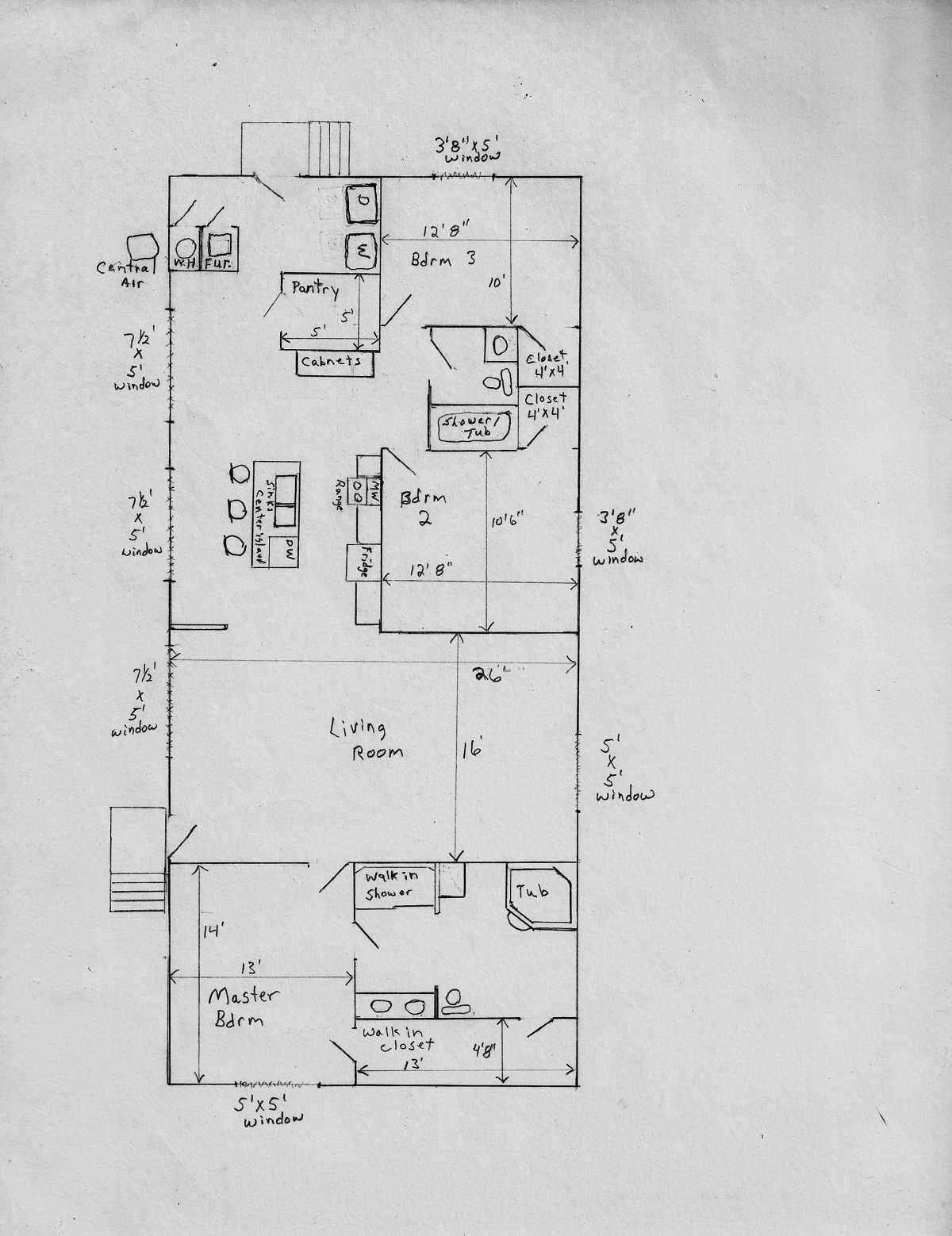 Photo 1999 redman mobile home floor plans images photo for 28x48 floor plans