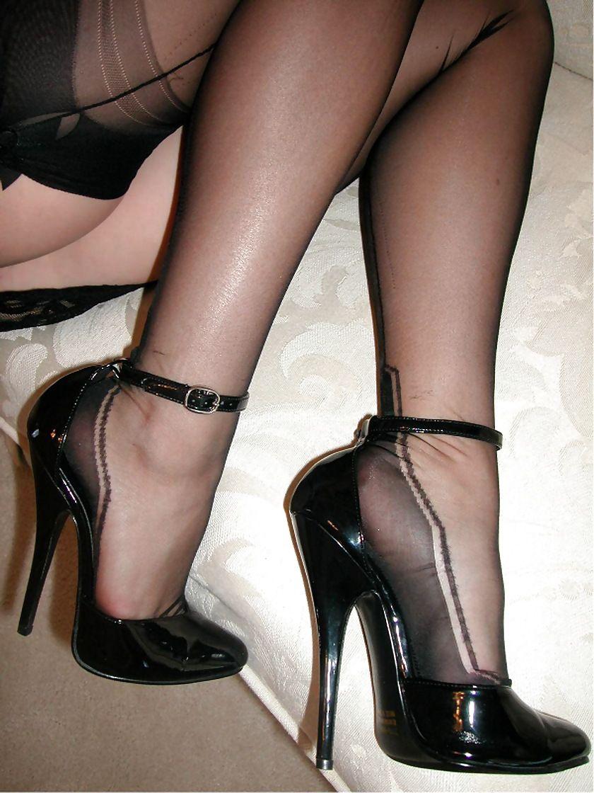 Ada stockings high heel tease - 2 6