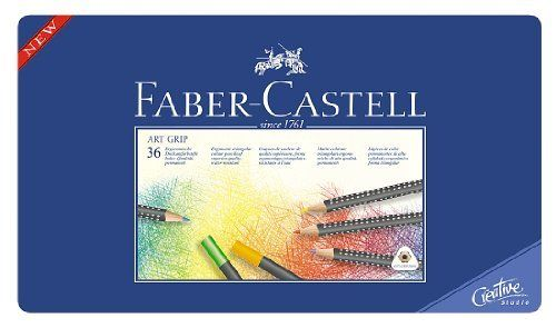 A W Faber Castell Art Grip Tin Of 36 Colored Pencils By A W