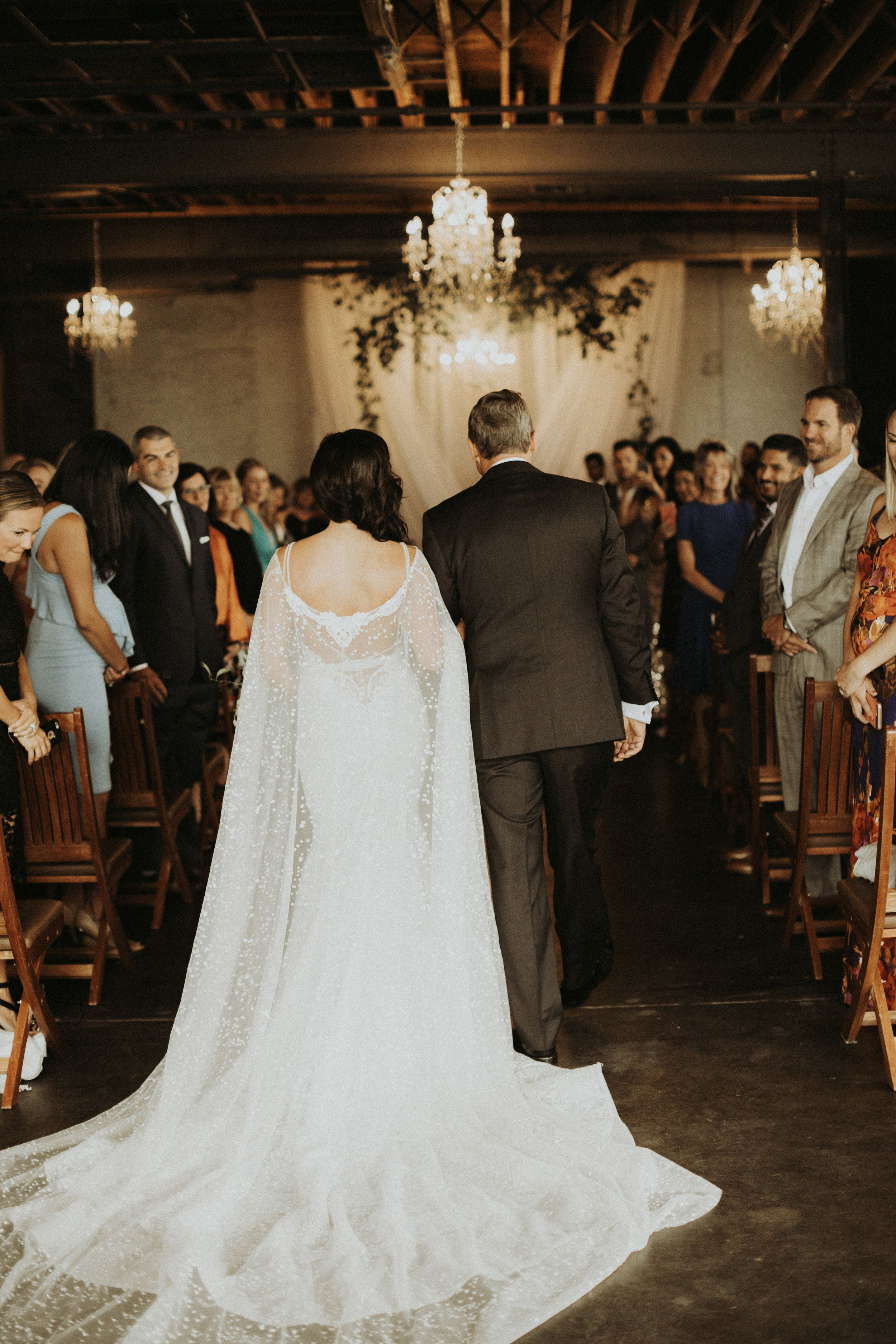 Berta Bridal gown and Cape - anna bé real bride, at Moss in Denver ...