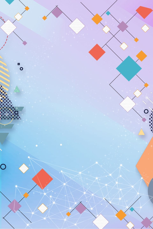 2020 的 Resume Color Hexagon Background H5 Background Material 主题