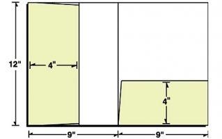 Die Cut Template For Vertical Right Pocket Presentation Folder - Brochure folder template
