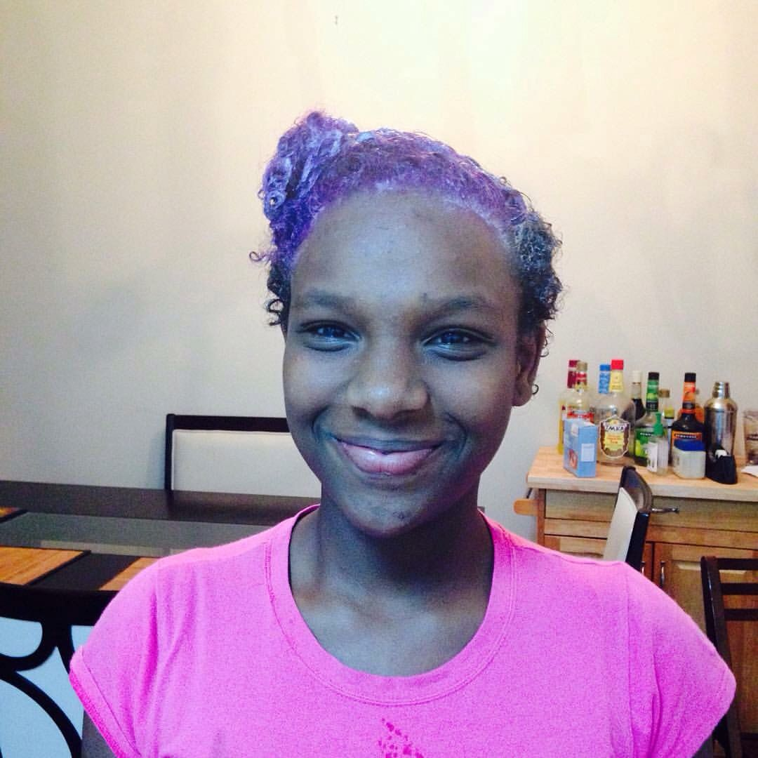 My 13 Year Old Hair Colored By Me Natural Hair Styles Hair Color Hair