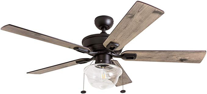 Prominence Home 80091 01 Abner Vintage Indoor Outdoor Ceiling Fan Etl Damp Rated 52 Led Schoolhous In 2020 Outdoor Ceiling Fans Ceiling Fan Best Outdoor Ceiling Fans