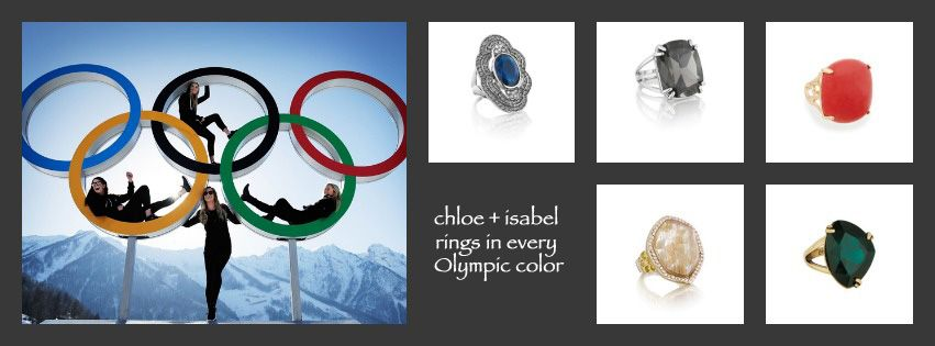Bring home some Olympic rings from my boutique www.chloeandisabel.com/boutique/bijouxdenoelle#12593   and if you wouldn't mind - like me on facebook  https://www.facebook.com/LisaKostChloeIsabel