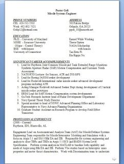 Rf Systems Engineer Sample Resume Missile Systems Engineer Sample Resume Format In Word Free Download .