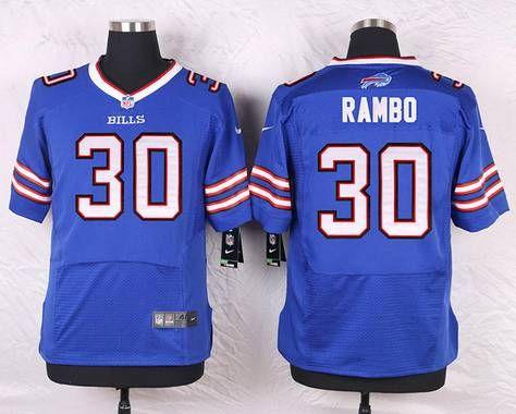 Buffalo Bills #30 Bacarri Rambo Royal Blue Team Color NFL Nike Elite  supplier