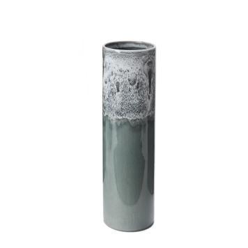 Vase Nakur, Keramik, Graugrün, 35x9 cm