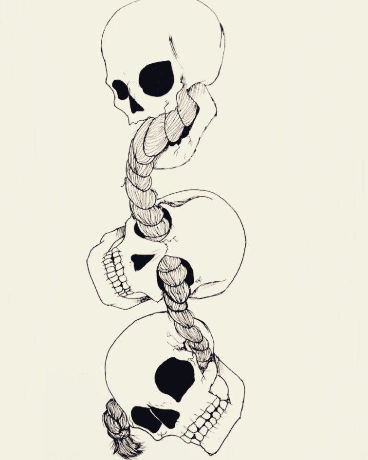 See No Evil Hear No Evil Speak No Evil Speak No Evil See No Evil Hear No Evil Instagram Artisandestiny Skulls Drawing Evil Skull Tattoo Evil Tattoo