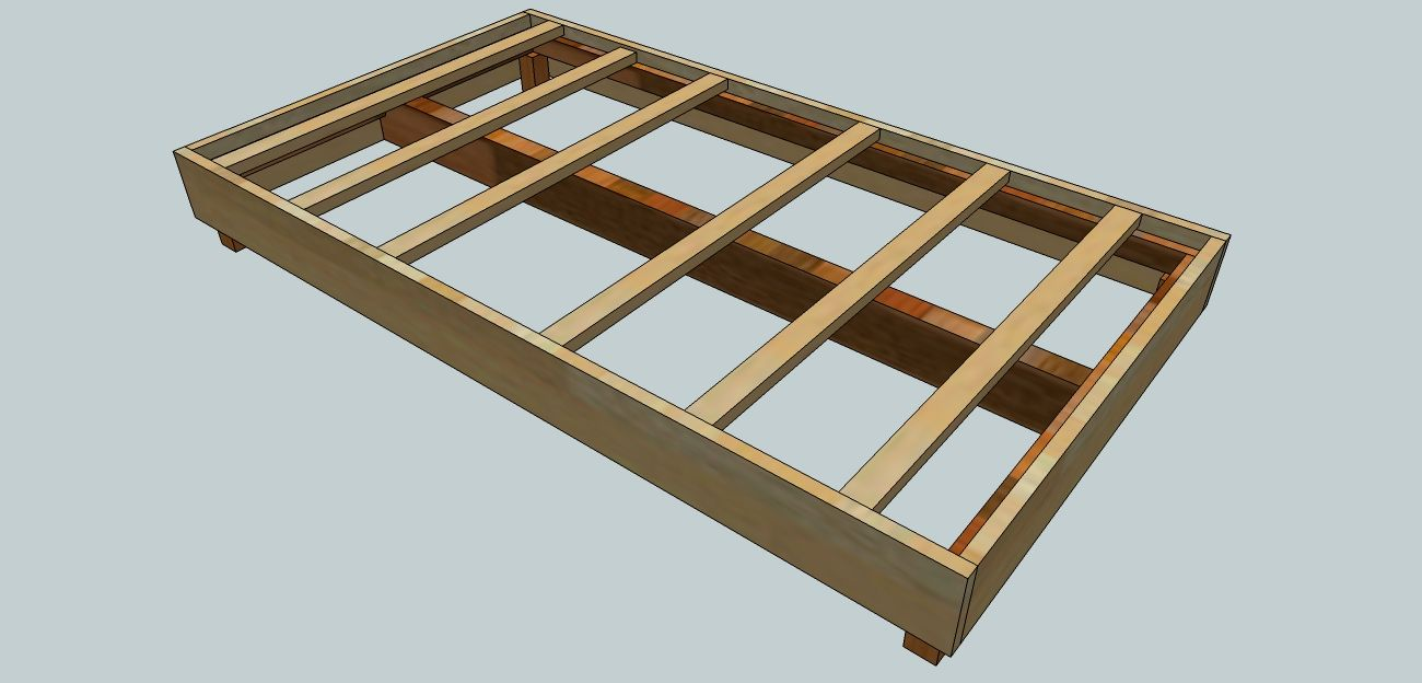 Diy queen bed frame plans - This Video Will Show You How To Build A Platform Bed For Under 30 You Spend