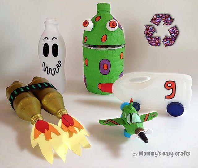 recycle #reciclaje #manualidades #diy #niños #kids #ideasforkids - ideas creativas y manualidades