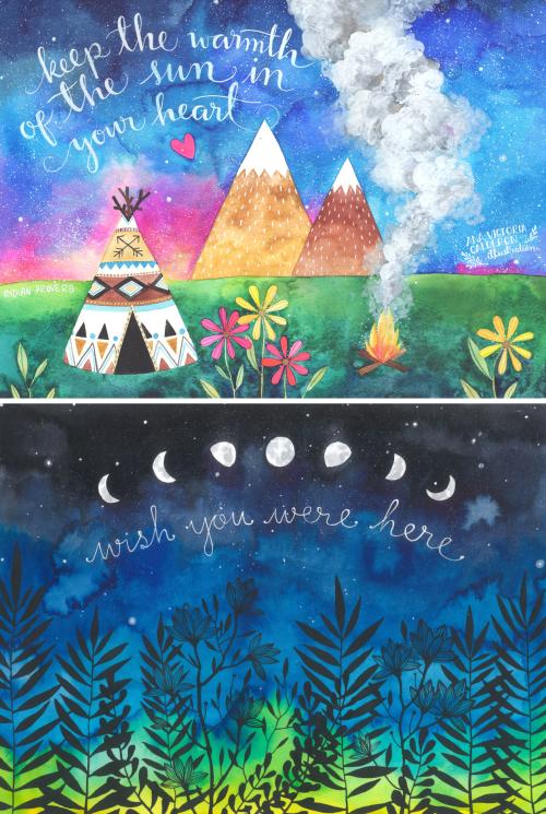 CULTURE N LIFESTYLE — Bohemian Watercolor Illustrations