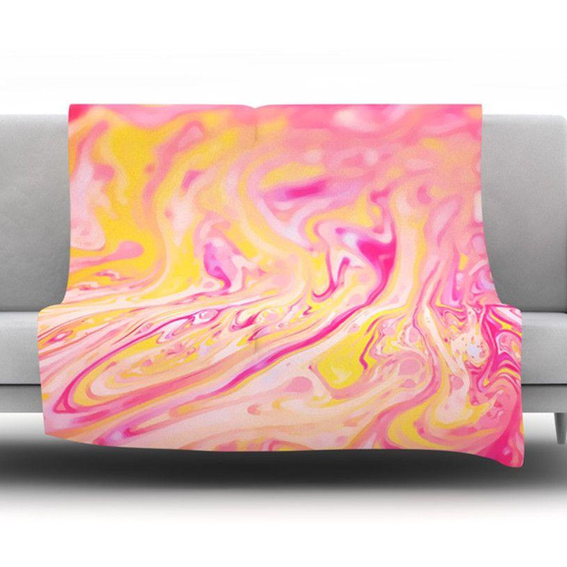 Bubble Gum Fleece Throw Blanket