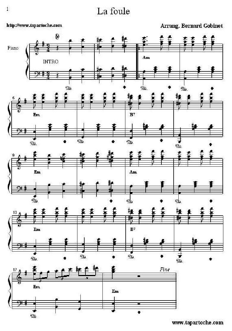 La foule edith piaf music pinterest pianos piano tabs and la foule edith piaf hexwebz Choice Image