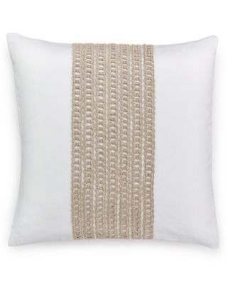 "Macy's Decorative Pillows New Hotel Collection Waffle Weave 18"" Square Decorative Pillow Created Design Decoration"