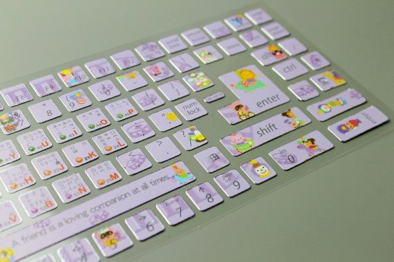 1 Sheet Korean Keyboard Sticker - PVC Sticker - Wa