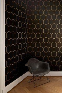 Hexagon Tile Allover Geometric Wall Stencil by GypsyMintStencils