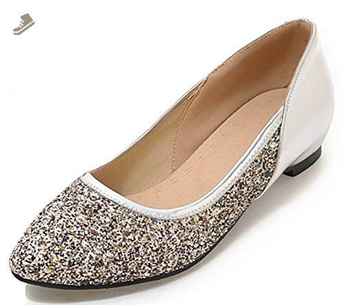 SHOWHOW Womens Dressy Color Block Pumps Low Heels Pointed Toe Slip On