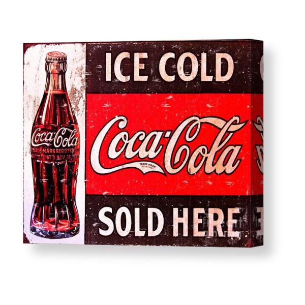 Art print POSTER CANVAS vintage coca-cola