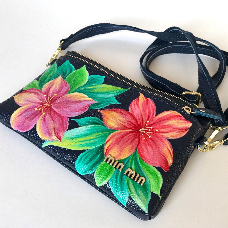 Hand painted bags handbags
