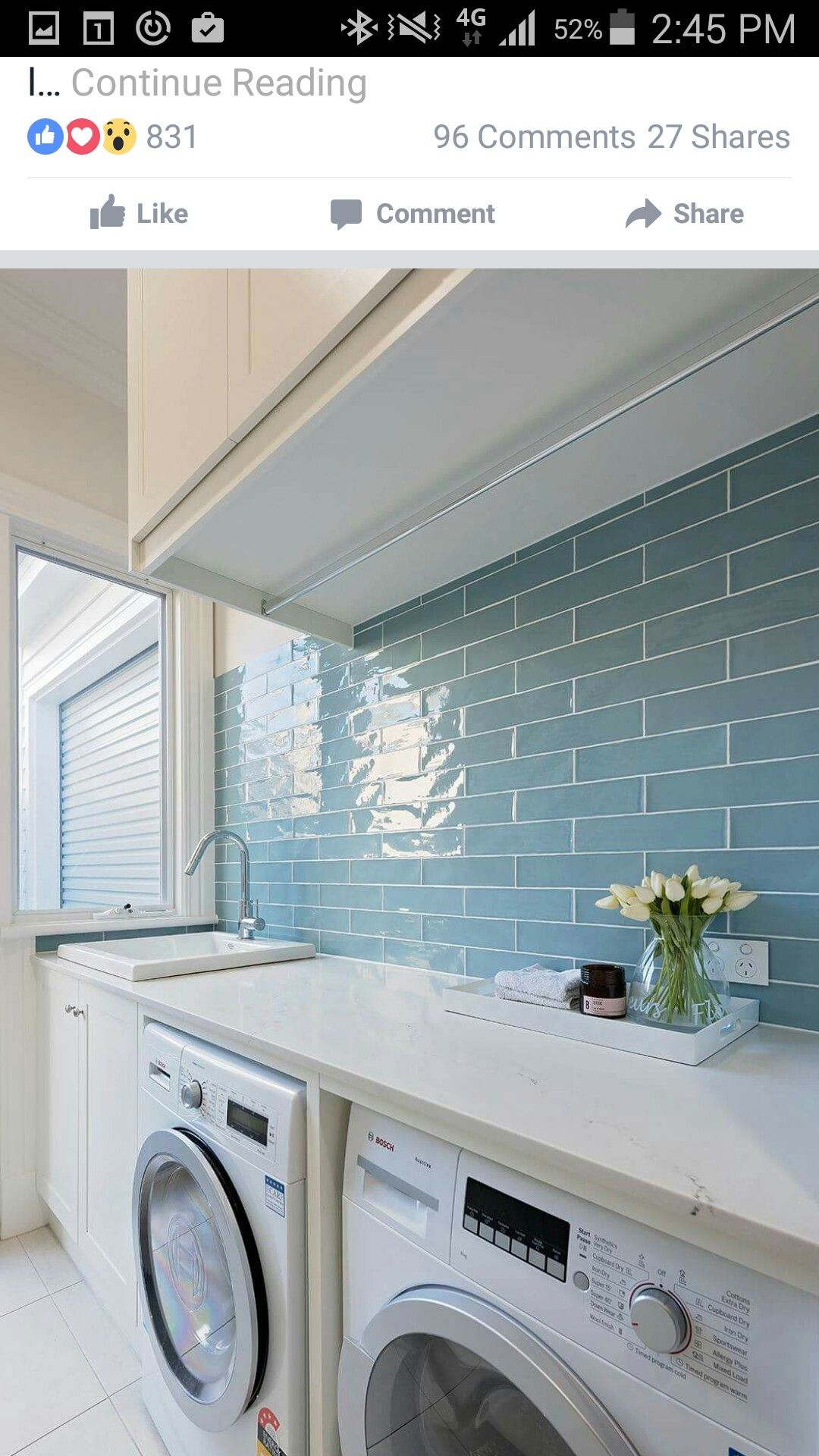 Pin By Katherine Golding On Kitchen Laundry Room Tile Laundry
