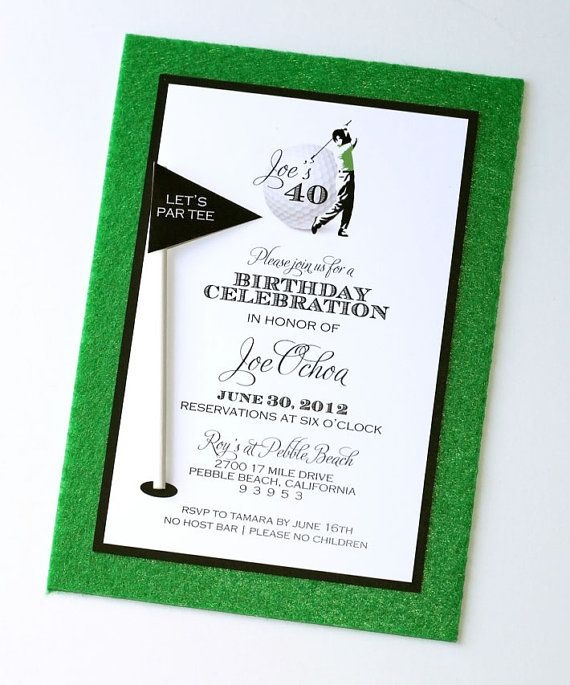 Golf Theme Custom Birthday Invitation By EmbellishedPaperie