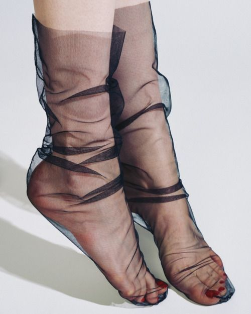 Slouchy black stockings - Marchesa