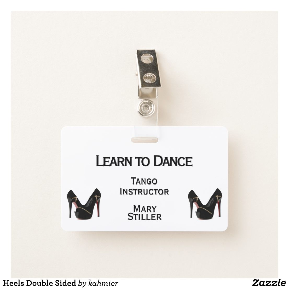 Heels Double Sided Badge