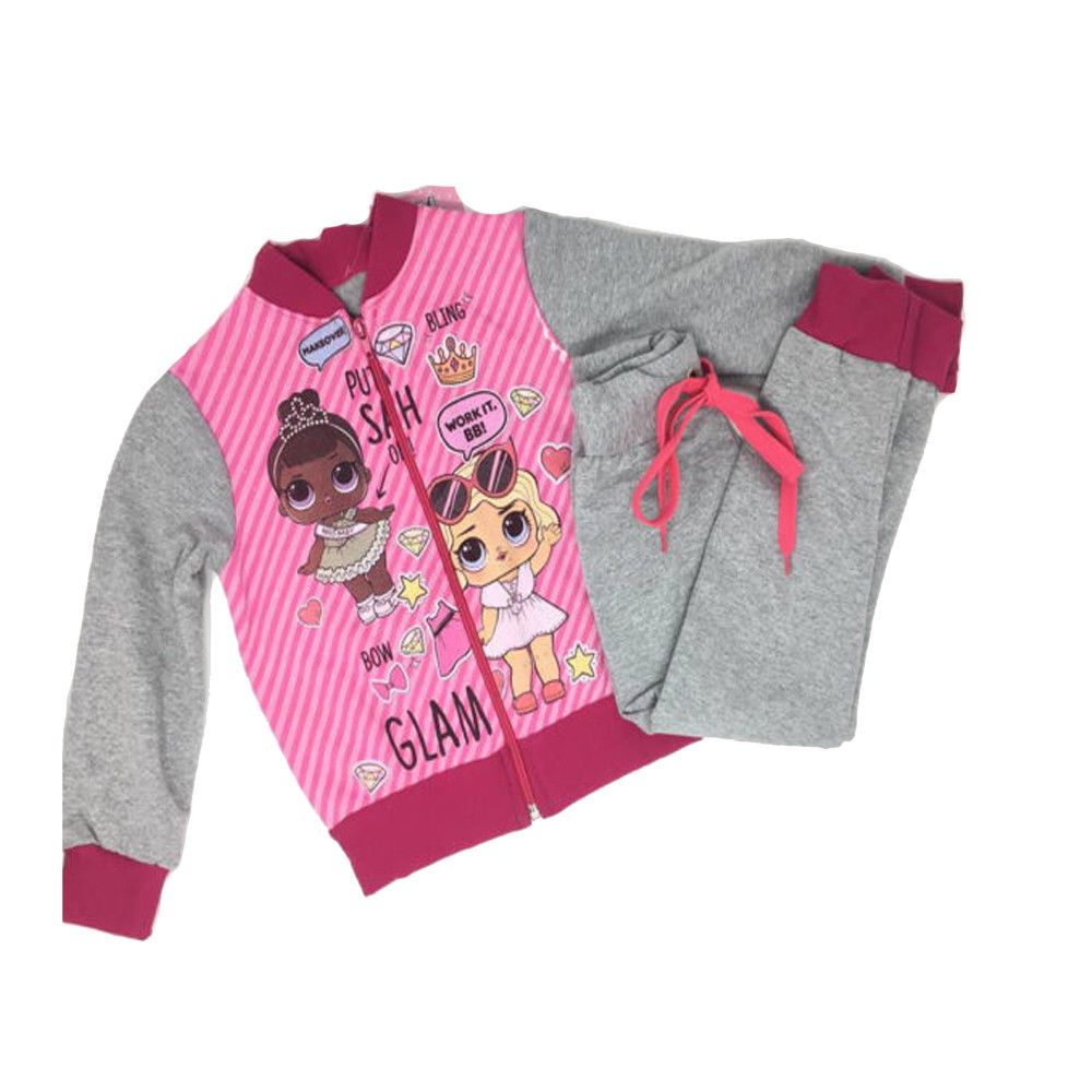 buy online af9d0 90c89 Tuta Bambina Felpata Chiusura Zip LOL Surprise Colore Rosa ...