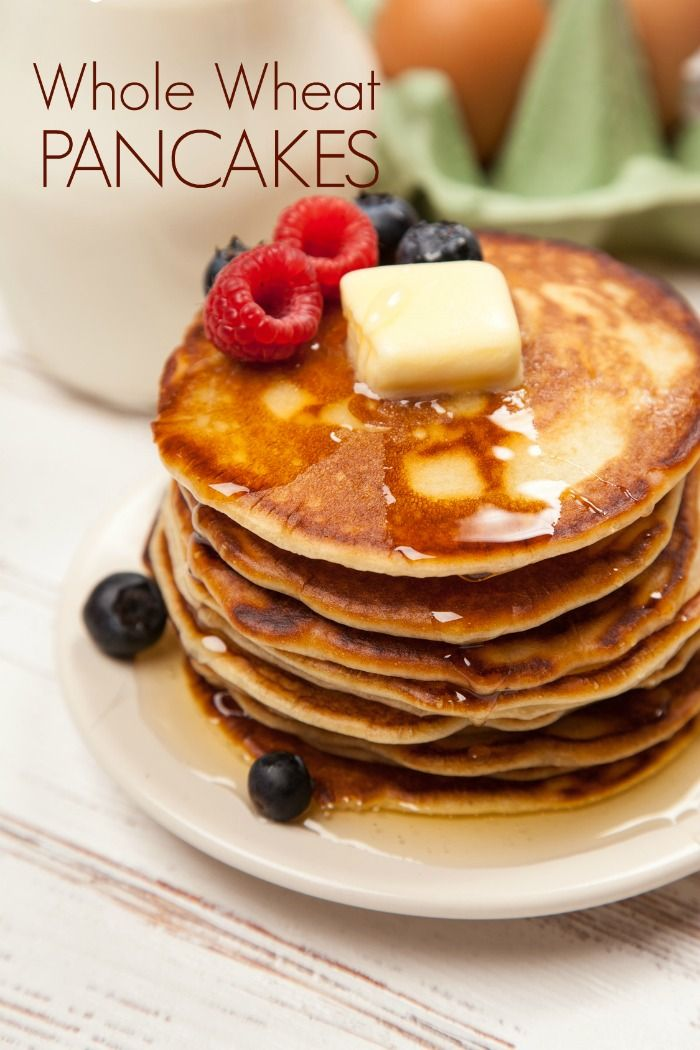 These fluffy whole wheat pancakes are better for you than the box these fluffy whole wheat pancakes are better for you than the box mix and only take ccuart Choice Image