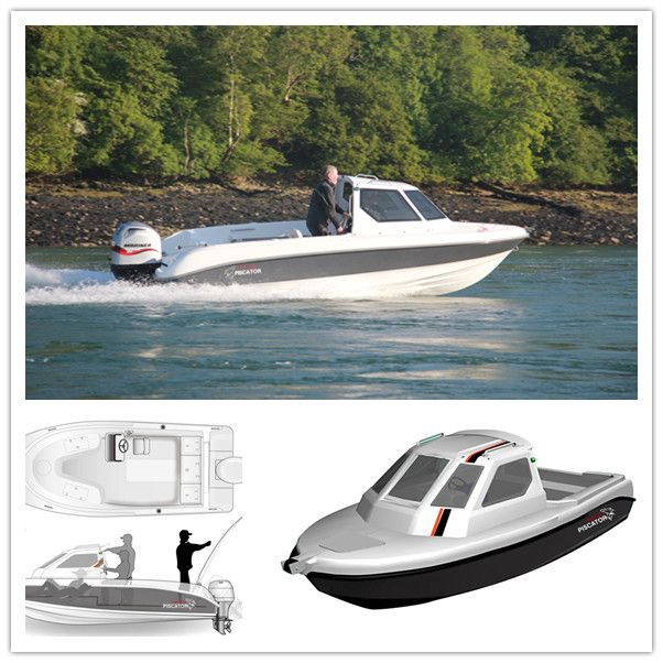 Boat with cabin fiberglass fishing boat cheap for Fishing cabins for sale